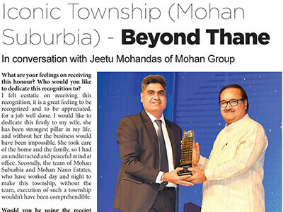 Mid Day : Iconic Township (Mohan Suburbia) – Beyond Thane