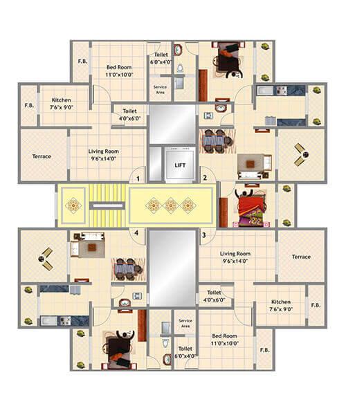 Mohan Suburbia Layout & Floor Plans